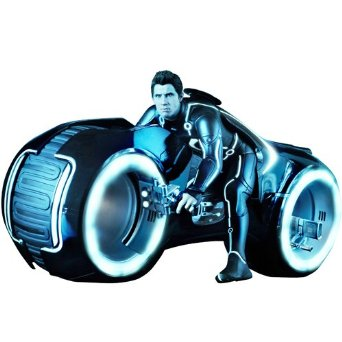 【ムービー・マスターピース】 『トロン:レガシー』 1/6スケール ライトアップ機能付きビークル ライト・サイクル&サム・フリン ホットトイズ:クロソイド屋