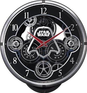 STAR WARS(リズム時計) 銀河帝国軍ダースベーダー KARAKURI CLOCK/スター・ウォーズ 黒色 4MN533MC02 リズム時計:クロソイド屋