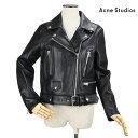 アクネストゥディオズ Acne Studios 1AZ166 ダブル ライダース ジャケット ラムレザー ブラック 黒 BLACK レディース 【送料無料】