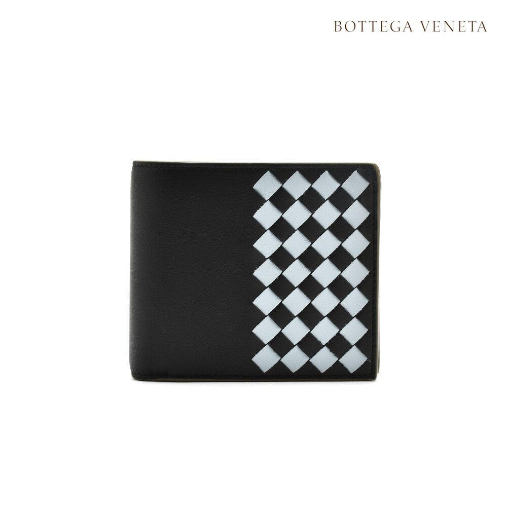 12b4e6989a99 ボッテガヴェネタ BOTTEGA VENETA 193642 VCOM4/4960 二つ折り財布 ネロ アーティク スティール イントレチャート  チェッカー ナッパ 二つ折りウォレット ブラック ...