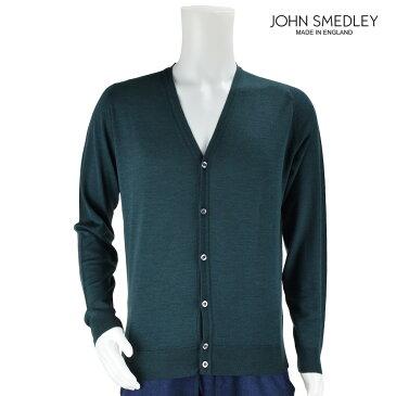 ジョンスメドレー JOHN SMEDLEY カーディガン 9032 GREEN メンズ