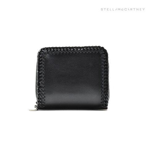 ステラマッカートニー STELLAMcCARTNEY 557851 W8394/1000 MINI ZIP WALLET BLACK 財布 二つ折り財布 ウォレット ブラック 黒 レディース【送料無料】