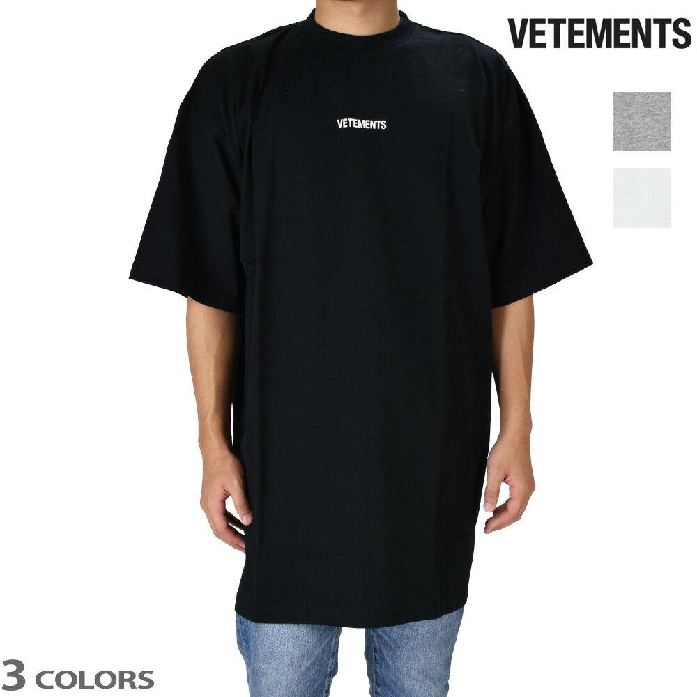 トップス, Tシャツ・カットソー 055SALE T VETEMENTS LOGO TEE
