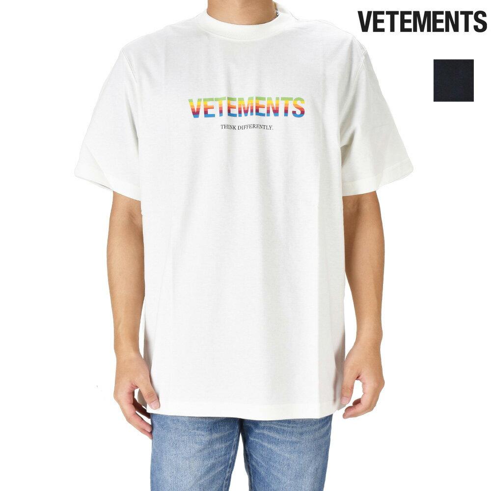 トップス, Tシャツ・カットソー 055SALE T VETEMENTS THINK DIFFERENTLY