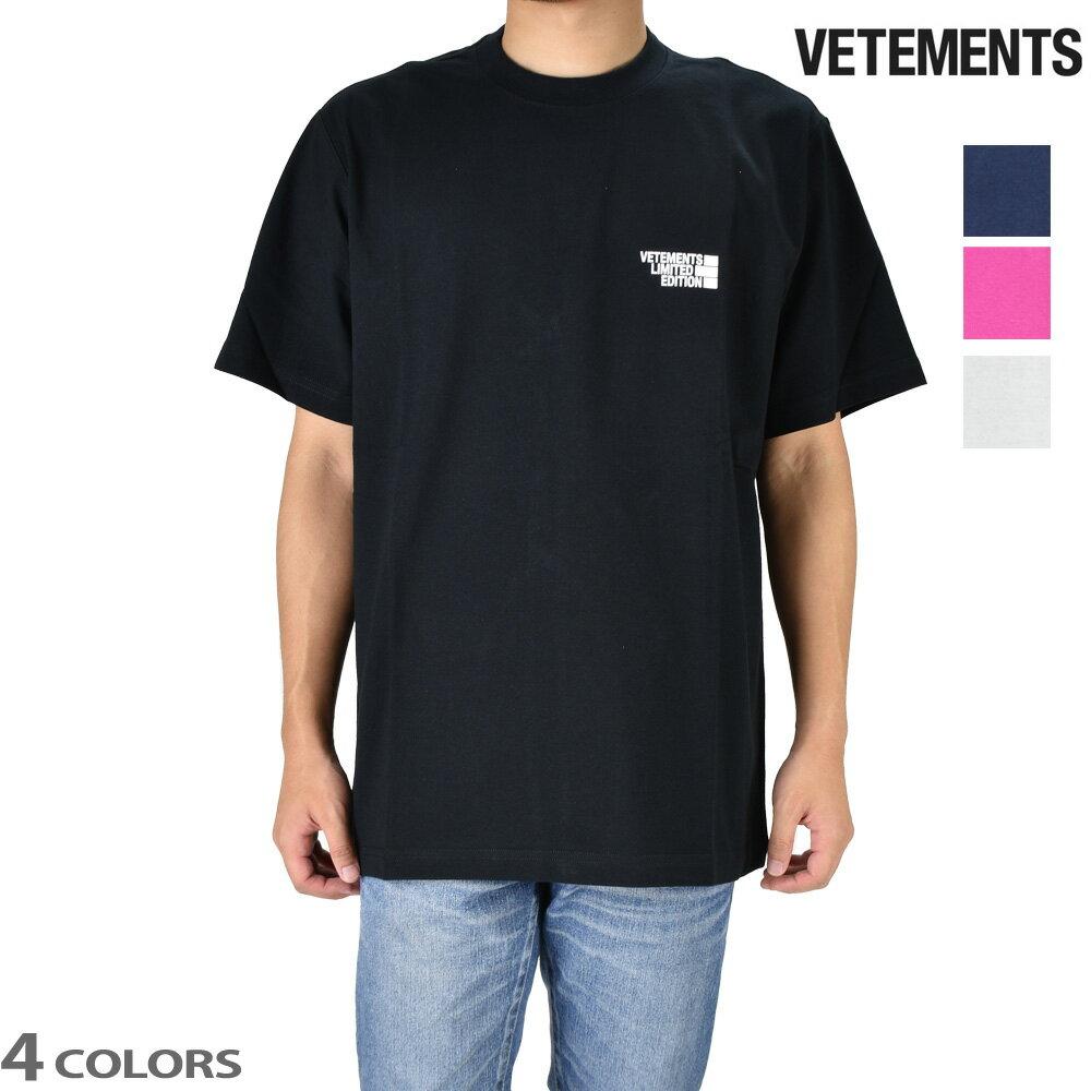 トップス, Tシャツ・カットソー 055SALE T VETEMENTS LOGO LIMITED EDITION
