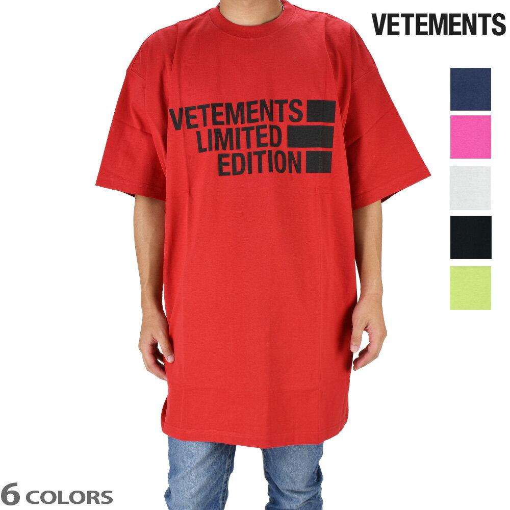 トップス, Tシャツ・カットソー SALE T T VETEMENTS BIG LOGO LIMITED EDITION