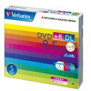 バーベイタムデータ用DVD+RDL8.5GB8倍速ワイドプリンタブル5mmスリムケースDTR85HP5V11パック(5枚)