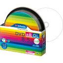 バーベイタムデータ用DVD+RDL8.5GB8倍速ワイドプリンタブルスピンドルケースDTR85HP10SV11パック(10枚)