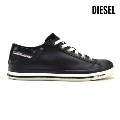ディーゼル DIESEL Y00321/PR052 T8013 スニーカー エクスポージャー 6 ローカット レザー ブラック 黒 BLACK メンズ