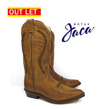 【アウトレット】【右足ヒール割れ】ハカ Botas Jaca 3103 orange atanadobiker no stripwestern boots cow boy ウエスタン ブーツカウボーイブーツ オレンジ本革 キャメル WESTERN BOOT victoria