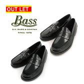 【最大2000円OFFクーポン*21(金)10:00〜24(月)9:59まで】【アウトレット】【右足つま先コーティング不良】gh bass ローファー ブラック ウォルトン GH バス WALTON BLACK 黒 革靴