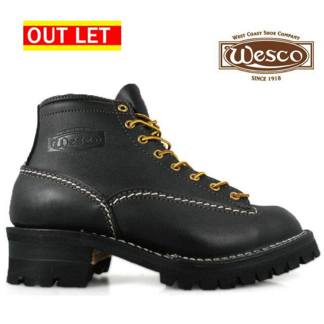 【アウトレット】【フォルスタンなし】ウェスコ ジョブマスター オールブラック Wesco Jobmaster All Black BK106100 6インチ画像