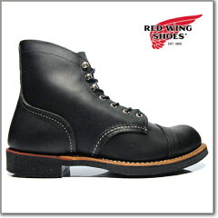 【レビューのお約束で送料無料!】レッドウィング REDWING 8114 IRON RANGE BLACK Harness Leat...