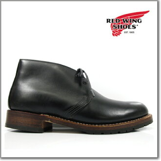 Red Wing REDWING 9024 BECKMAN CHUKKA BOOTS BLACK FEATHERSTONE DWIDTH Beckman chukka boots black leather leather workshop classic boots dress ◆