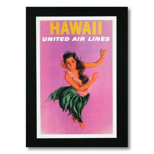 ハワイアンポスター エアラインシリーズ <HAWAII ユナイテッド航空> A-9 アメリカ雑貨 アメリカン雑貨