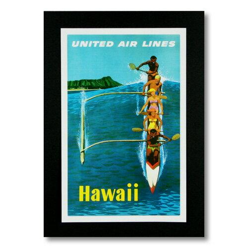 ハワイアンポスター エアラインシリーズ <ユナイテッド航空 Hawaii> A-11 アメリカ雑貨 アメリカン雑貨