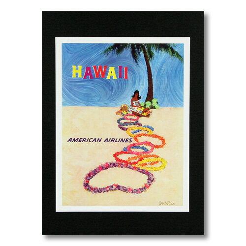 ハワイアンポスター エアラインシリーズ <アメリカンエアラインズ> A-10 アメリカ雑貨 アメリカン雑貨