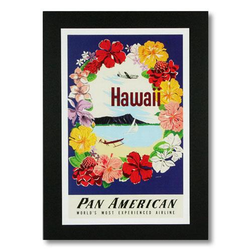 ハワイアンポスター エアラインシリーズ <パンアメリカン航空 WORLD'S MOST...> A-7 アメリカ雑貨 アメリカン雑貨