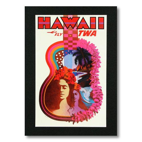 ハワイアンポスター エアラインシリーズ <HAWAII FLY TWA (トランスワールド航空 )> A-16 アメリカ雑貨 アメリカン雑貨