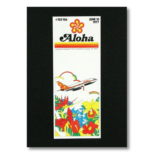 ハワイアンポスター エアラインシリーズ <JUNE 10 1977 アロハエアライン> A-18 アメリカ雑貨 アメリカン雑貨