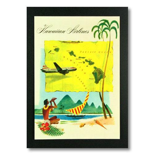 ハワイアンポスター エアラインシリーズ <ハワイアン航空 > A-26 アメリカ雑貨 アメリカン雑貨