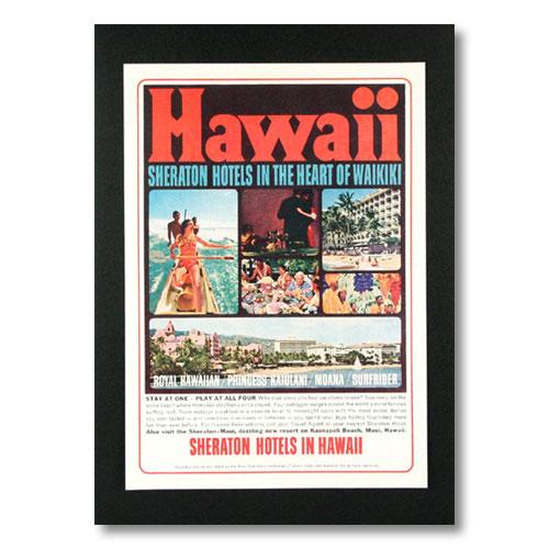 ハワイアンポスター ホテルシリーズ <SHERATON HOTELS IN THE HEART OF WAIKIKI> G-11 アメリカ雑貨 アメリカン雑貨画像