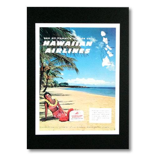 ハワイアンポスター エアラインシリーズ <See all Hawaii's Island ハワイアン航空> A-25 アメリカ雑貨 アメリカン雑貨