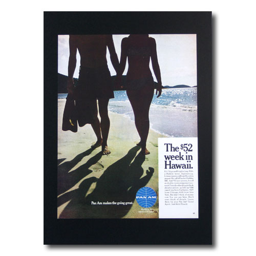 ハワイアンポスター エアラインシリーズ A-37 「パンナム WEEK IN HAWAII」 サイズ:28×21cm アメリカ雑貨 アメリカン雑貨