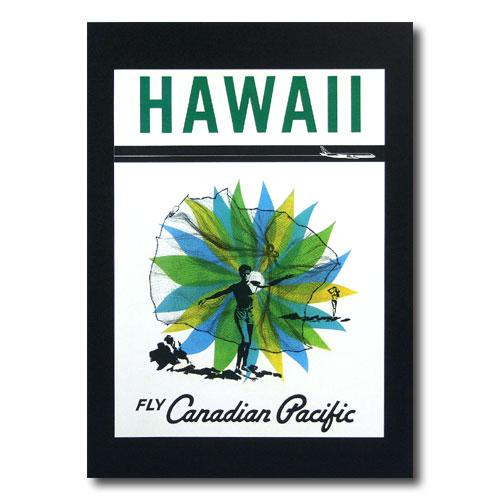 ハワイアンポスター エアラインシリーズ A-58 「カナディアンパシフィック」 サイズ:29×21cm アメリカ雑貨 アメリカン雑貨