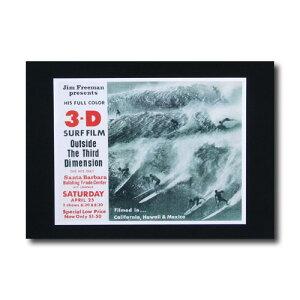 サーフムービーポスター L-34 「Outside The third Dimension」 サイズ:21.5×27.5cm アメリカ雑貨 アメリカン雑貨
