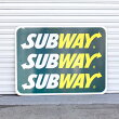直輸入USEDロードサイドサインSUBWAYサブウェイ(片面)H92×W122cmガレージディスプレー大型看板店舗看板アメリカ雑貨