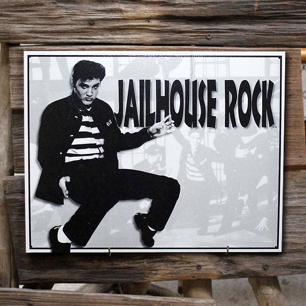 メタルサイン「エルビスプレスリーJailhouseRock」#878ブリキ看板ロックミュージックアメリカ雑貨アメリカン雑貨