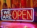 【送料無料】ネオンサイン / We Are Open