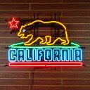 ネオンサイン CALIFORNIA カリフォルニアの州旗デザイン ネオ...