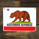 プラスチックメッセージサインボード 「カリフォルニアリパブリック」 C...
