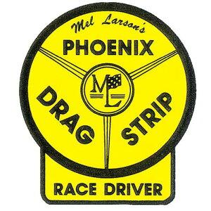 ノスタルジックステッカー レーシングデカール PHOENIX DRAG STRIP RACE DRIVER DZ170 9cm×10cm 車 アメリカン雑貨