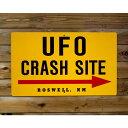 【送料無料】トラフィックサイン UFO CRASH SITE (UFO事故現場!?) アメリカの道路標識
