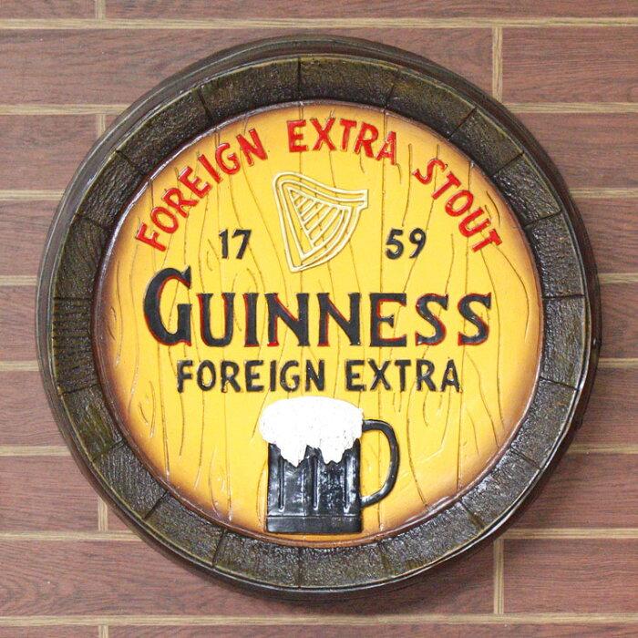 クラシックバレルオブジェ ギネス GUINNESS 壁掛け 樽型 インテリア 看板 アメリカ雑貨 アメリカン雑貨 ヴィンテージ風
