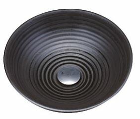 ≧KVK 洗面器【KV38A】美術工芸手洗鉢 天草陶石 黒泥/六兵