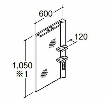 ###INAX 洗面化粧台【MFRV1-601XJU】ミラーキャビネット リフラ LED照明 1面鏡(大型鏡) 全高1,900mm用 間口600mm くもり止めコート付:家電と住設のイークローバー