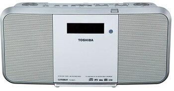 ω東芝オーディオ【TY-CRX71(W)】(ホワイト)SD/USB/CDラジオ