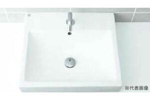 ▽INAX/LIXIL 洗面器セット【L-536ANC】角形洗面器(ベッセル式) 自動水栓 AC100V仕様 AM-130TC(100V) 壁給水・床排水(Sトラップ)