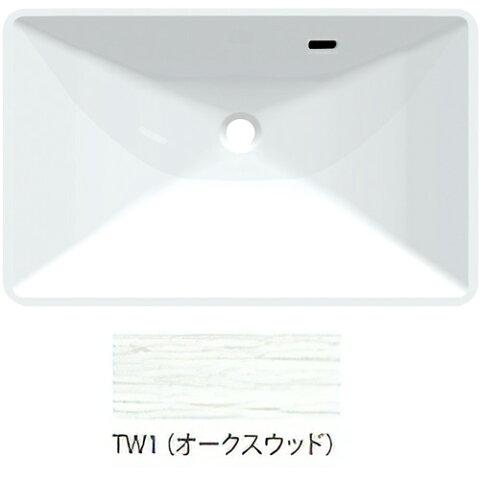 ###>三栄水栓/SANEI【HW20-TW1】オークスウッド ボウル一体型洗面カウンター 受注生産
