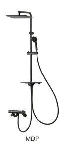 三栄水栓/SANEI【SK18520-2S2-MDP-13】サーモシャワー混合栓 マットブラック