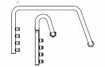 『カード対応OK!』コロナ(CORONA)石油暖房機部材【UHB-MH-PE2】ポリ4回路ヘッダーセット