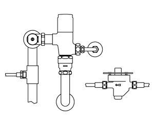 ###【カード対応OK!】INAXリモコンフラッシュバルブ洗浄水量6-8L便器用露出形(定流量弁付)【CFR-T610S-C】中水仕様受注生産品