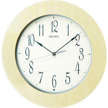 ■〒セイコークロック/SEIKO【KX219A】(8594464)電波掛時計 木枠 受注単位1