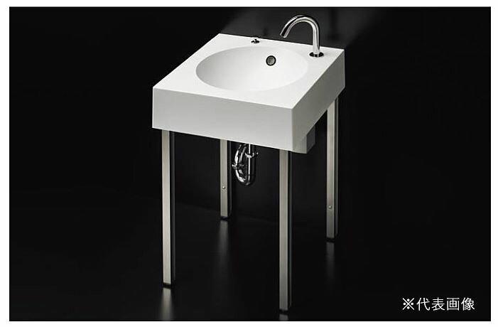 ###TOTO 洗面器 セット品番【MLRC50AB PA11+TENA12A】スタンド洗面 台付自動水栓(単水栓) 壁排水金具(Pトラップ) 受注約1週:クローバー資材館
