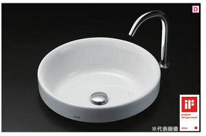 【カード対応OK!】###TOTOカウンター式洗面器セット品番【LS703#NW1+TENA12AL】ホワイト丸形洗面器ベッセル式台付自動水栓(単水栓)床排水金具(Sトラップ)