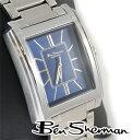 ベンシャーマン Ben Sherman ディープ ブルー レクタングル アナログ 腕時計 メンズ プレゼント ギフト 父の日